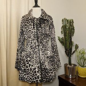 Dana Buchman Animal Print Zipup Light Jacket